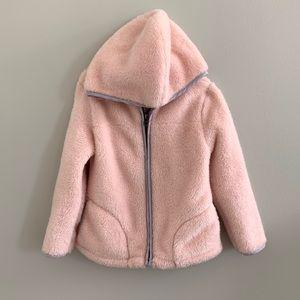 Girls 5T Hooded Jacket Old Navy Pink Fleece Coat